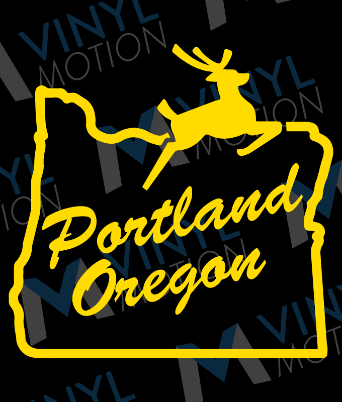 Portland Oregon Sign Old Town Vinyl Motion - Custom vinyl decals portland oregon