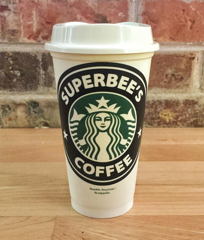 Starbucks cup custom sticker