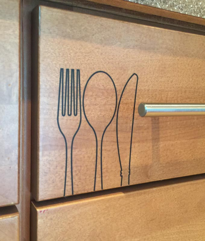 Kitchen Cabinet Labels